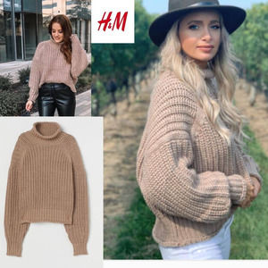 H&M Blogger Favorite Ribbed Sweater Beige